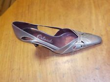 Orlando Storm Pewter/ Pearl cream leather shoe ASTRID Size 5