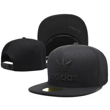 Embroidered Adidas Trefoil Snapback Flat Cap Black : One Size Fits Most