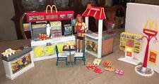 Barbie McDonald's Fun Time Restaurant Playset including Barbie & Drive Thru Set