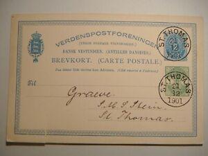 Danish West Indies.2c.Stationery card,St.Thomas 1901.