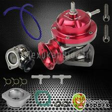 "Universal Adjustable Type RS Turbo BOV Blow Off Valve 2.5"" Flange Mount Red"