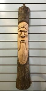 Forest Man Of The Woods 100cm Hand Carved Wizard Tree Trunk Wood Fairtrade