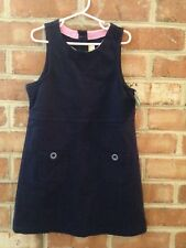 NWT Crazy 8 Navy Blue Ponte Stretch Uniform Jumper Dress 10 12