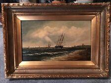ATQ 18 Century Ship Painting Remigius Adrianus Van Haanen Netherlands 1812-1894