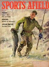 1958 Sports Afield July - Minnesota; Alaska fishing; Quetico-Superior; alligator
