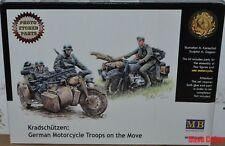 Masterbox 3548 F 1:35th échelle Kradschutzen german motorcycle troupes sur le déménagement