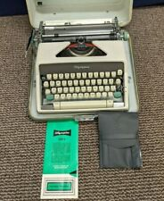 Olympia Deluxe SM7 Typewriter Manual Wester Germany Case Vintage Script Typeface