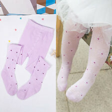 Kid Child Girls Cotton Mesh Polka Dots Flora Tights Pantyhose Ballet Dance Pants