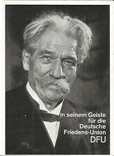 Albert Schweitzer, Deutsche Friedens-Union, DFU-Partei, Politik, Wahlwerbekarte