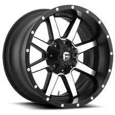 """Fuel D537 Maverick 20x10 6x135/6x5.5"""" -18mm Black/Machined Wheel Rim 20"""" Inch"""