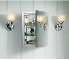 Home Bathroom Medicine Storage Aluminum Recessed Cabinet Rectangle Mirrored Do