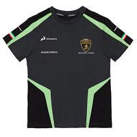 Lamborghini Squadra Corse Mens Team T-Shirt BLACK Tee Official Merchandise