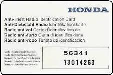 honda radio code unlock 1 hour
