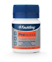 Faulding Probiotics Travel Mate (30 Caps) 5 billion CFU - Avoid Travel Diarrhoea