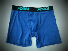 NEW men's PUMA TECH SPORT STRETCH blue trunks boxer briefs underwear M