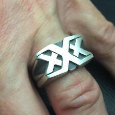 Mjg Sterling Silver Triple X Ring. Vin Diesel. Comic Con. Xxx. Biker. Sz 10