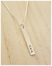 Sterling Silver Hand Stamped Name Bar Charm, No Chain, Charm Only
