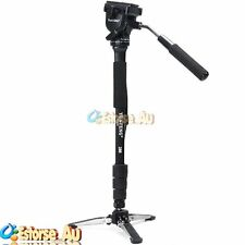 YUNTENG VCT-288 Camera Monopod + Fluid Pan Head + Unipod Holder For DSLR Camera