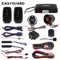 Easyguard PKE car alarm remote starter push stop keyless entry kit shock sensor