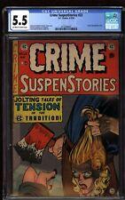 Crime Suspenstories #22 CGC 5.5 OW/W  EC Comics 1954 Classic Decapitation Cover