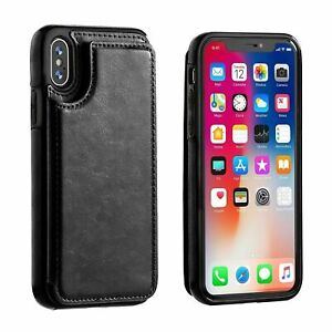 Leather Flip Wallet Card Holder Case Cover For iPhone SE 2020 7 8 Plus 11 12 Pro
