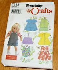 """Simplicity Crafts Sewing Pattern 7688 Clothes for 18"""" Doll"""