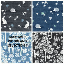PATCHWORK/ CRAFT FABRIC 100% COTTON - MAKOWER WOODLAND SELECTION 1