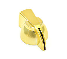 P-300GLD (1) Gold Finish Chicken Head Knob For Solid Shaft Guitar/Bass/Amp/Pedal