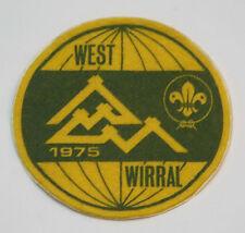 1975 World Scout Jamboree UNITED KINGDOM / BRITISH WEST WIRRAL Contingent Patch