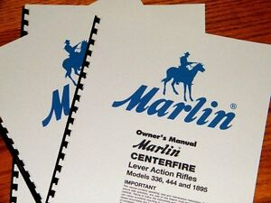 MARLIN 336 444 1895 Lever Action Rifle OWNERS MANUAL