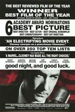 GOOD NIGHT AND GOOD LUCK - 2005 orig 27x40 movie poster- GEORGE CLOONEY- reviews