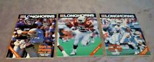 1990 Three Texas Longhorns Football Game Programs Arkansas-SMU-Texas A&M