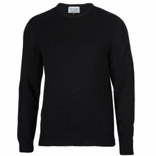 Wool Patternless Black Jumpers & Cardigans for Men