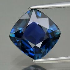 GRA CERTIFICATE Incl.*3.08ct IF Cushion Natural Unheated Greenish Blue Sapphire