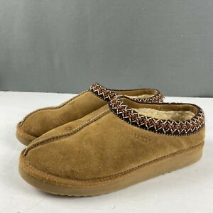 Women's Ugg Australia Tasman Casual Slippers Shoes Size 8 Brown Suede Shearling