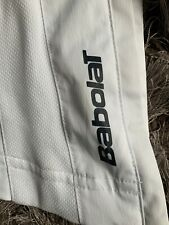 MENS BABOLAT WHITE TENNIS TROUSERS, SIZE SMALL
