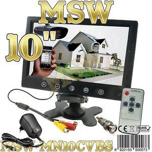 """MONITOR LCD TFT 10"""" Con 2 INGRESSI VIDEO AUTO CAMPER POGGIATESTA Video SECURITY"""