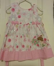 Precious Moments Dress Girls size 3-6 months Pink Summer Wear