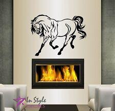 Wall Vinyl Decal Beautiful Horse Stallion Mustang Animal Art Wall Sticker 131