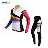 Women Long Sleeves Cycling Jersey Comfortable Bicycle Outdoor Jersey&Pants Sets