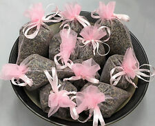 Set of 10 Lavender Sachets made with Light Pink Organza Bags