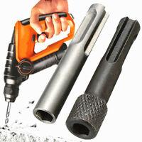 "2pcs/Set For SDS Plus To 1/4"" Hex Socket Driver Hammer Drill Bit Adapter Bar Kit"