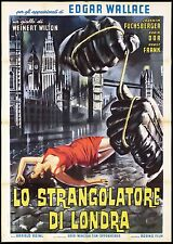 LO STRANGOLATORE DI LONDRA MANIFESTO FILM CASARO THRILLER GIALLO MOVIE POSTER 2F