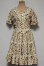 Vintage Jeri Bee Square Dance Dress Medium 10 12 Peasant Boho Tiered Paisley