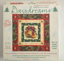 Dimensions Daydreams Christmas Bells Counted Cross Stitch Kit Glass Mat NEW