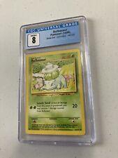 Pokemon TCG Bulbasaur 44/102 Base Set Graded CGC 8 NM Mint Excellent Condition