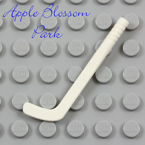 NEW Lego Minifig White HOCKEY STICK  - Friends Sports Player Gear Utensil Weapon