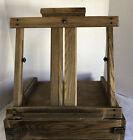 PLEIN AIR WOOD ARTIST CABINET Portable Moving Easel w/ Paint & Supplies Artwork