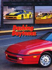 1988 Dodge Daytona Shelby Z and GTU Race Original Car Review Print Article J507