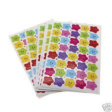 400Pcs Stars happy Face Reward Stickers Kindergarten Children Kids Teacher Use